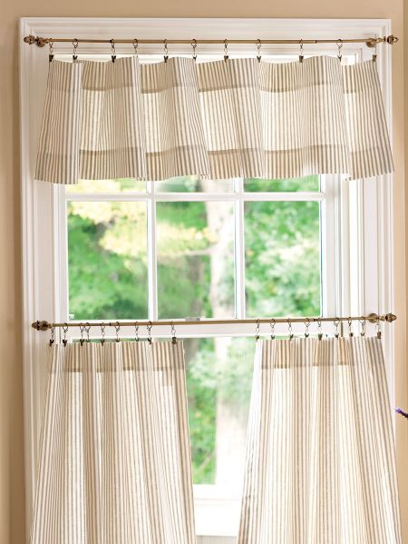Featured Image of Tailored Valance And Tier Curtains