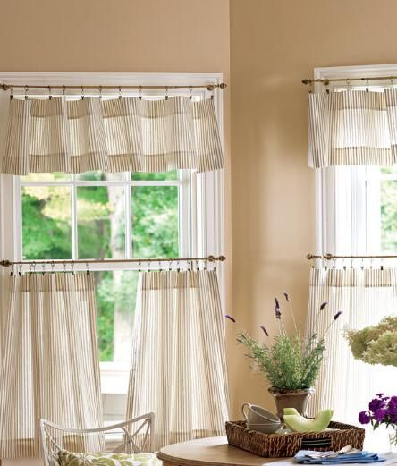 Ticking Stripes Cafe Curtains – Light Blue/pink – Pair With Farmhouse Stripe Kitchen Tier Pairs (Image 24 of 25)