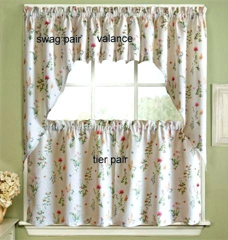 Tiered Valances Garden Kitchen Curtains – Woodspeak In Floral Lace Rod Pocket Kitchen Curtain Valance And Tiers Sets (View 7 of 25)