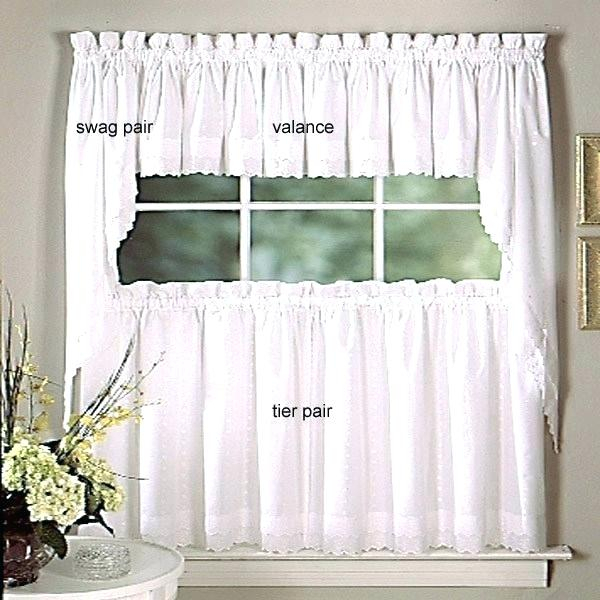 Tiered Valances Kitchen Curtains Home Design Trends – Woodspeak Pertaining To Floral Lace Rod Pocket Kitchen Curtain Valance And Tiers Sets (View 10 of 25)