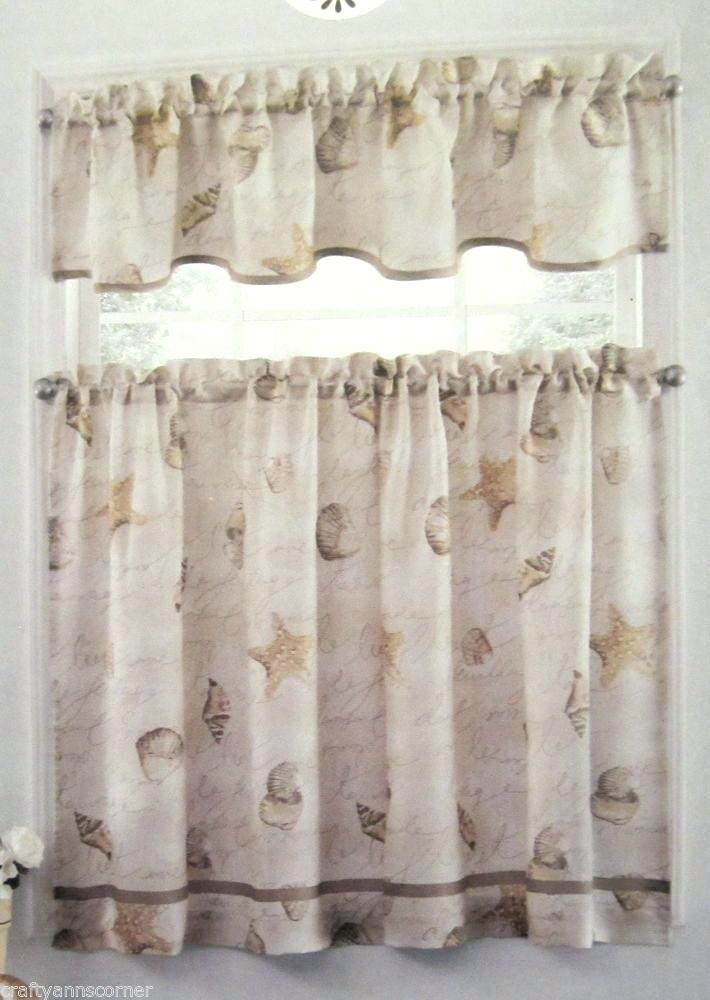Tiers Valance And Valances For Kitchens – Woodspeak In Coastal Tier And Valance Window Curtain Sets (Image 24 of 25)