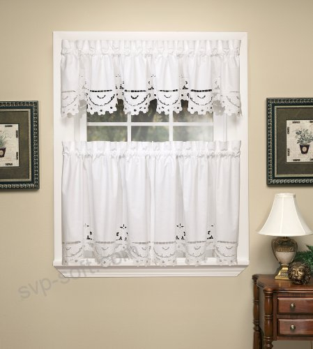 Today's Curtain Imperial Classic Drawn Cutwork Window Tier With Regard To Classic Kitchen Curtain Sets (View 14 of 25)