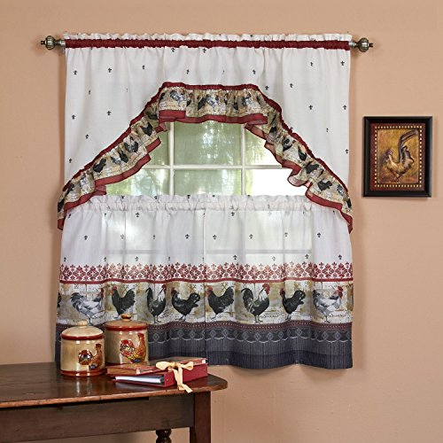 Top 17 Best Cottage Curtains – Top Decor Tips Inside Lodge Plaid 3 Piece Kitchen Curtain Tier And Valance Sets (View 8 of 25)