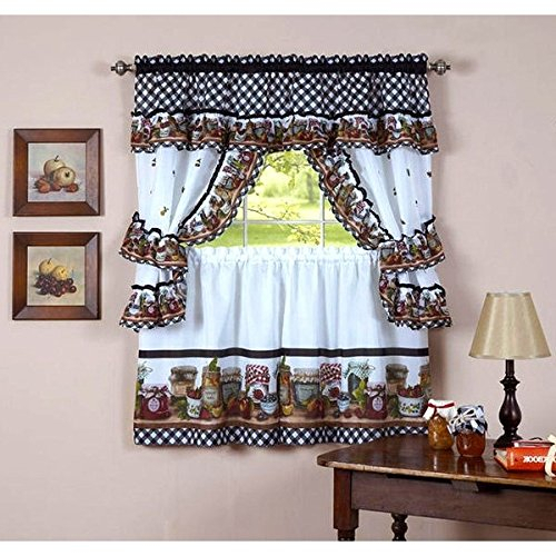 Top 17 Best Cottage Curtains – Top Decor Tips Regarding Traditional Two Piece Tailored Tier And Swag Window Curtains Sets With Ornate Rooster Print (View 9 of 25)