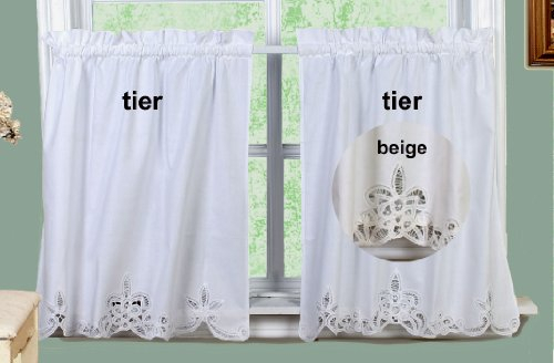 Top 20 Best Lace Kitchen Curtains – Top Decor Tips For Elegant White Priscilla Lace Kitchen Curtain Pieces (View 22 of 25)