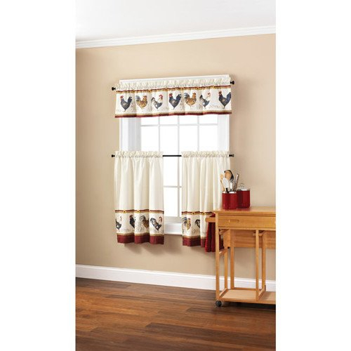 Top 20 Cabin Curtains – Top Decor Tips Inside Traditional Two Piece Tailored Tier And Swag Window Curtains Sets With Ornate Rooster Print (View 21 of 25)