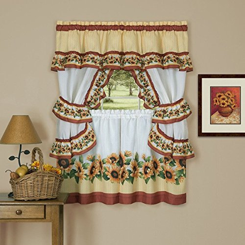 Top 20 Cabin Curtains – Top Decor Tips Intended For Traditional Tailored Tier And Swag Window Curtains Sets With Ornate Flower Garden Print (View 9 of 25)