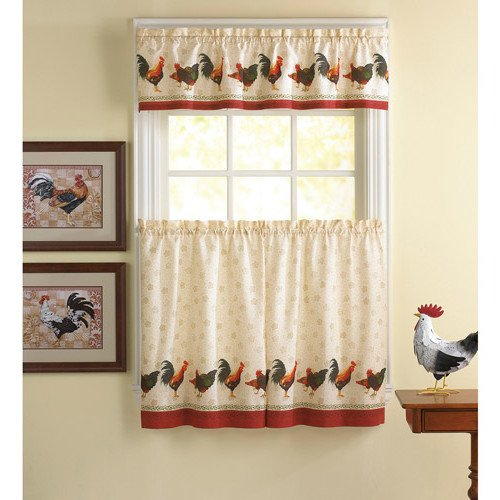 Top 20 Cabin Curtains – Top Decor Tips Throughout Traditional Two Piece Tailored Tier And Swag Window Curtains Sets With Ornate Rooster Print (View 15 of 25)