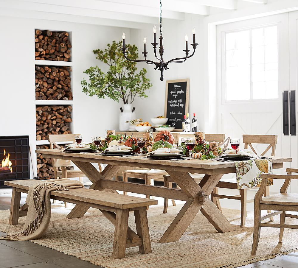 Toscana Extending Dining Table, Medium, Seadrift At Pottery With 2017 Tuscan Chestnut Toscana Extending Dining Tables (View 3 of 25)