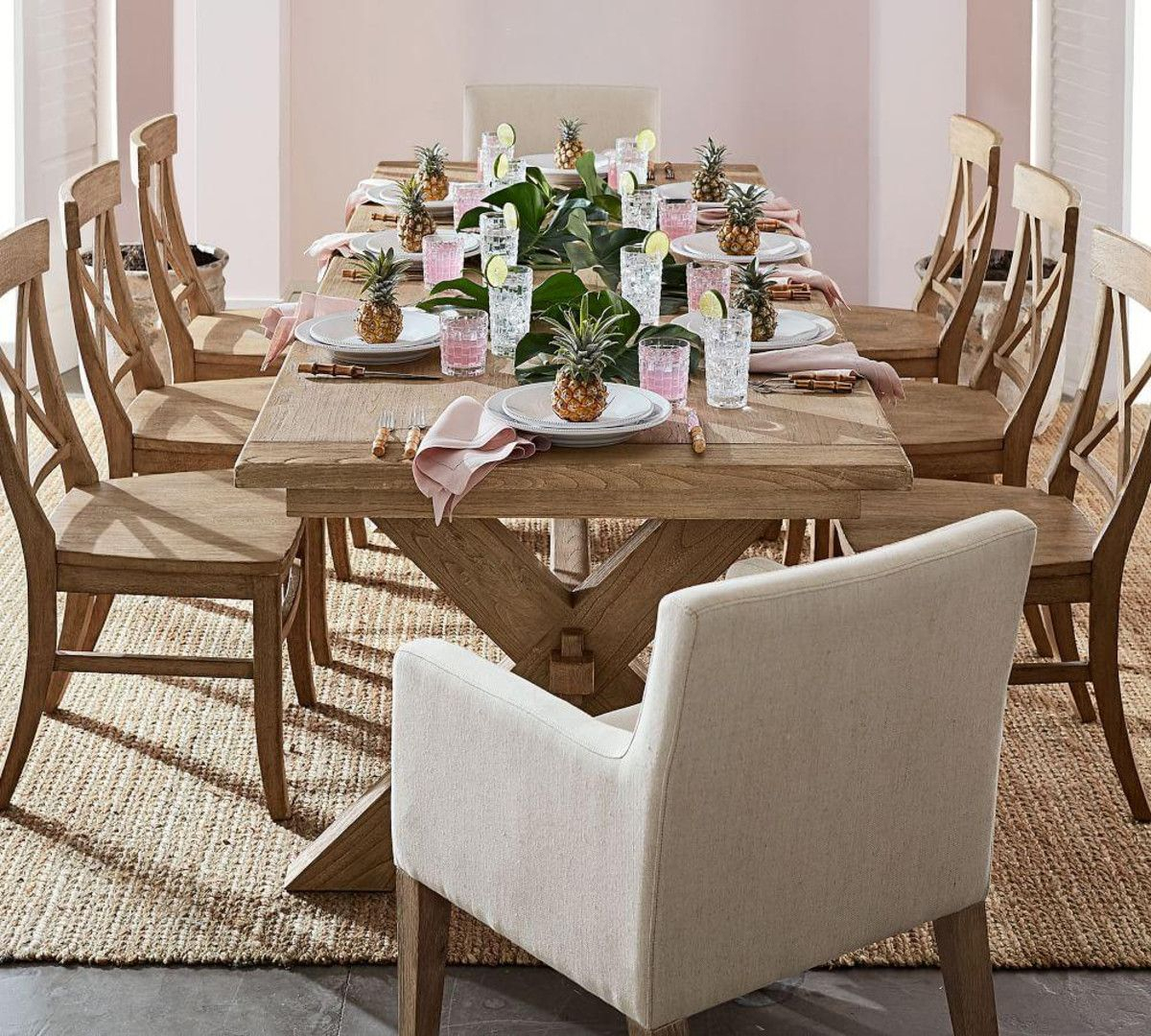 Featured Image of Seadrift Toscana Pedestal Extending Dining Tables