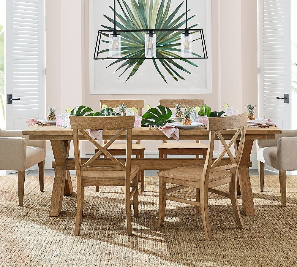 """Toscana Extending Dining Table, Tuscan Chestnut, 60"""" – 84"""" L Pertaining To Most Current Seadrift Benchwright Extending Dining Tables (View 24 of 25)"""