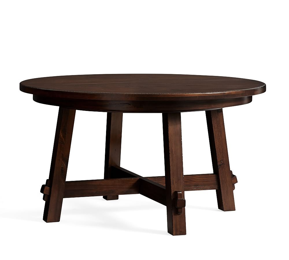 Featured Image of Tuscan Chestnut Toscana Pedestal Extending Dining Tables