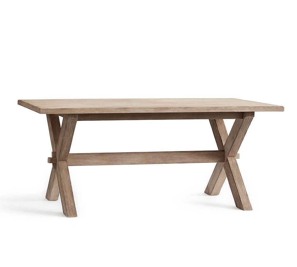 Toscana Fixed Dining Table, Seadrift At Pottery Barn Within Recent Seadrift Banks Extending Dining Tables (View 2 of 25)