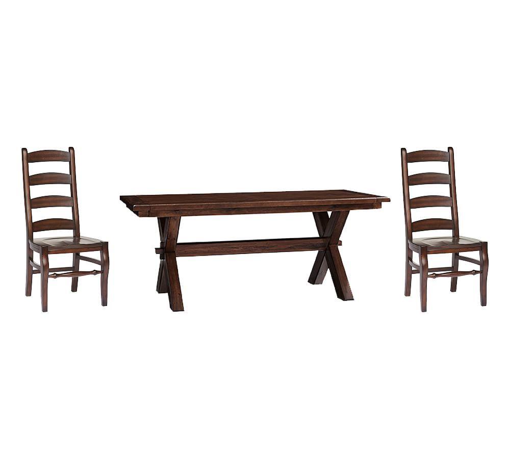 Toscana Medium Extending Dining Table & Wynn Chairs, Tuscan For 2017 Tuscan Chestnut Toscana Extending Dining Tables (View 9 of 25)