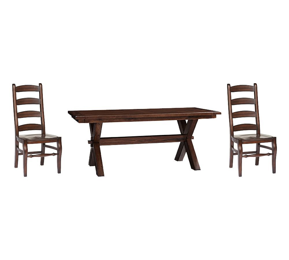 Toscana Medium Extending Dining Table & Wynn Chairs, Tuscan In Most Popular Tuscan Chestnut Toscana Dining Tables (View 14 of 25)