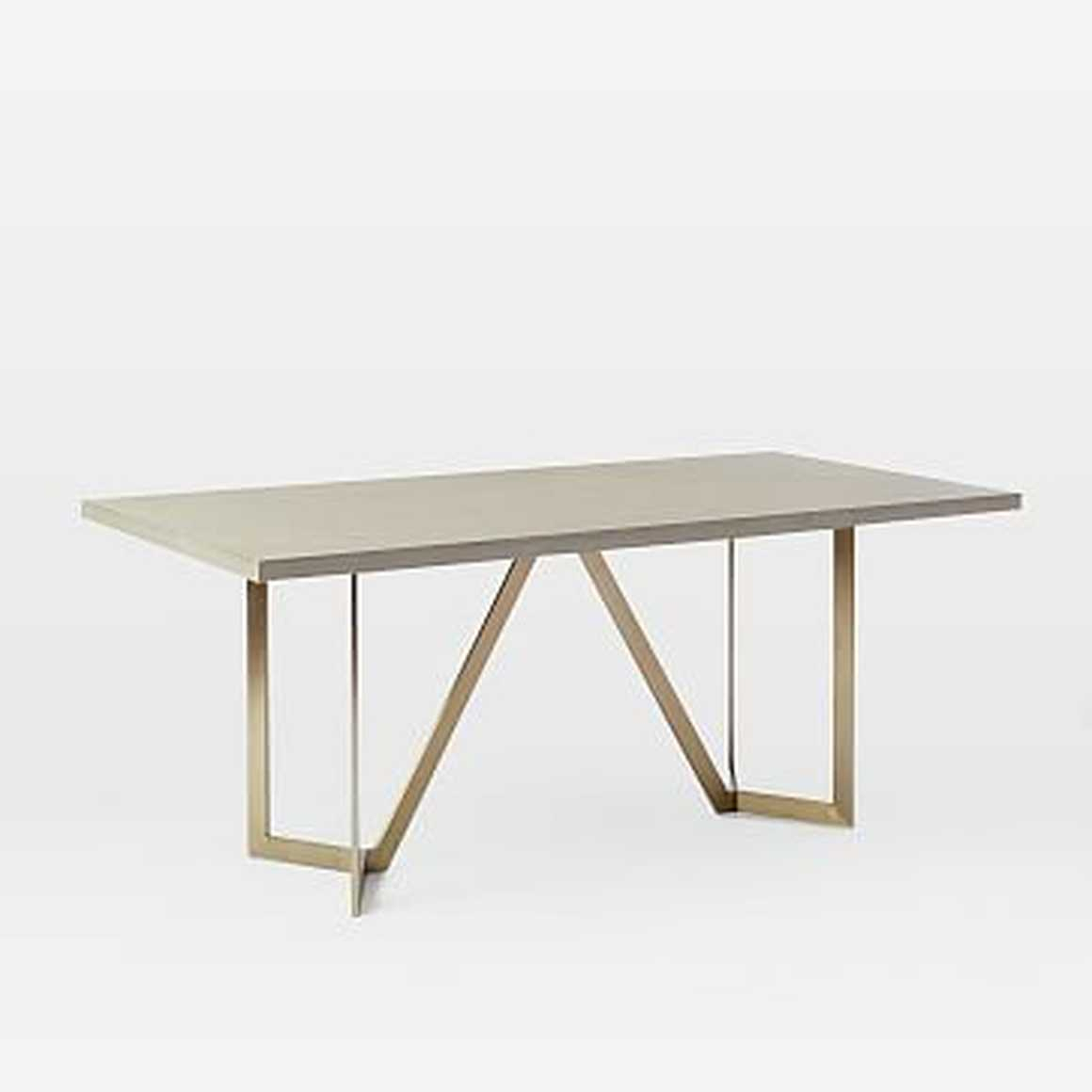 Tower Dining Table 72' Concrete, Blackened Brasswest Elm | Havenly Pertaining To Latest West Dining Tables (Image 15 of 25)