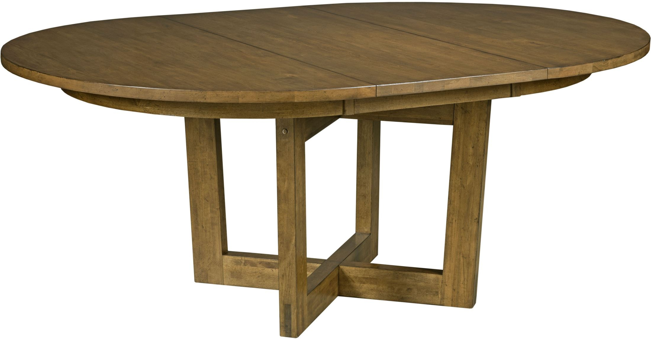 "Traverse Brown 54"" Drop Leaf Round Dining Table Pertaining To Newest Montalvo Round Dining Tables (View 22 of 25)"