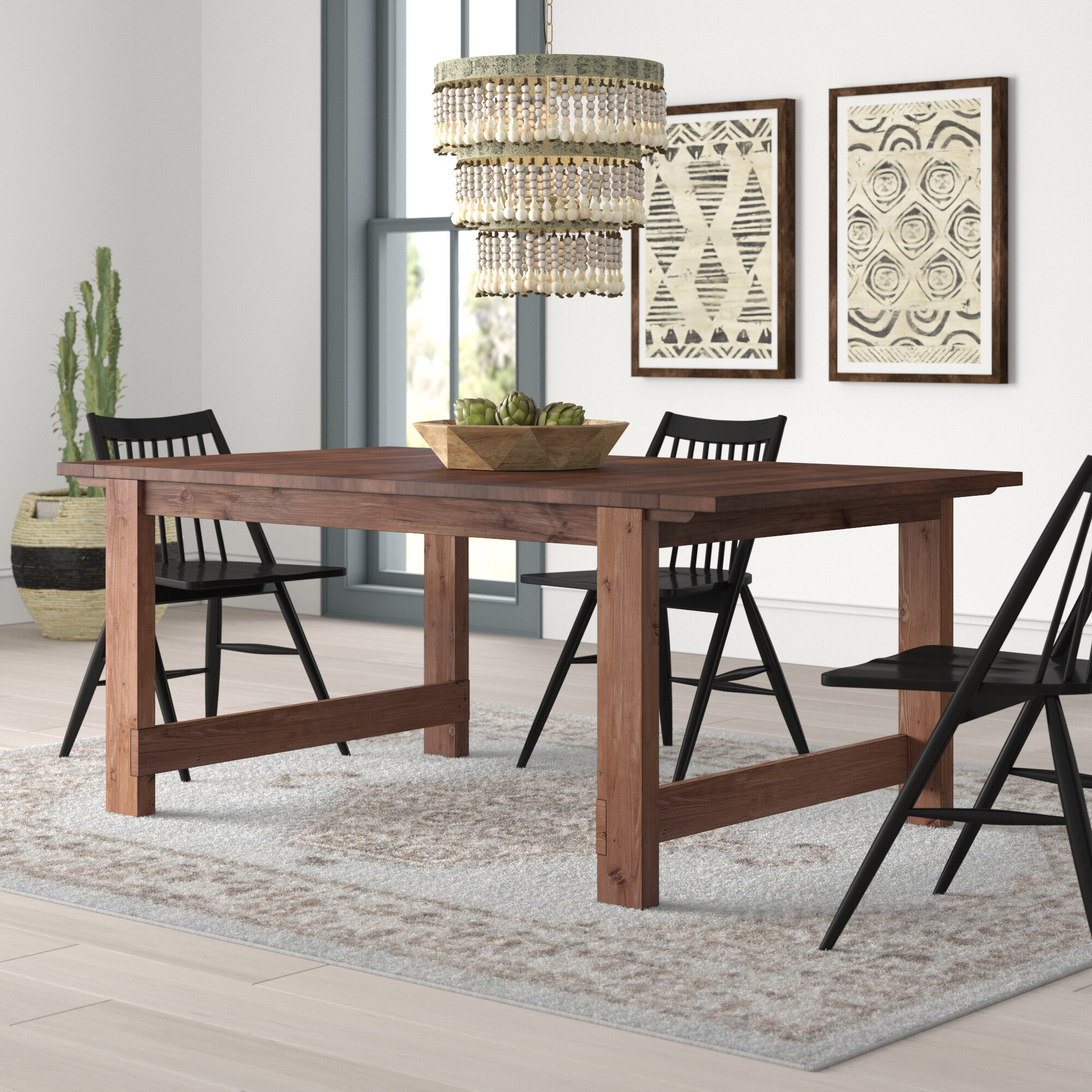 Trevion Trestle Extendable Dining Table With 2017 Rustic Mahogany Extending Dining Tables (View 17 of 25)