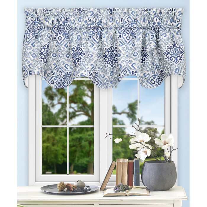 """Trudell Medallion 70"""" Curtain Valance In Medallion Window Curtain Valances (View 6 of 25)"""