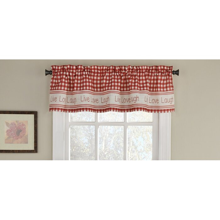 "Turley 50"" Window Valance Throughout Live, Love, Laugh Window Curtain Tier Pair And Valance Sets (View 24 of 25)"