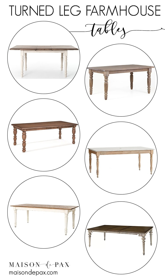 Turned Leg Farmhouse Tables – Maison De Pax Regarding Most Up To Date Modern Farmhouse Extending Dining Tables (View 7 of 25)