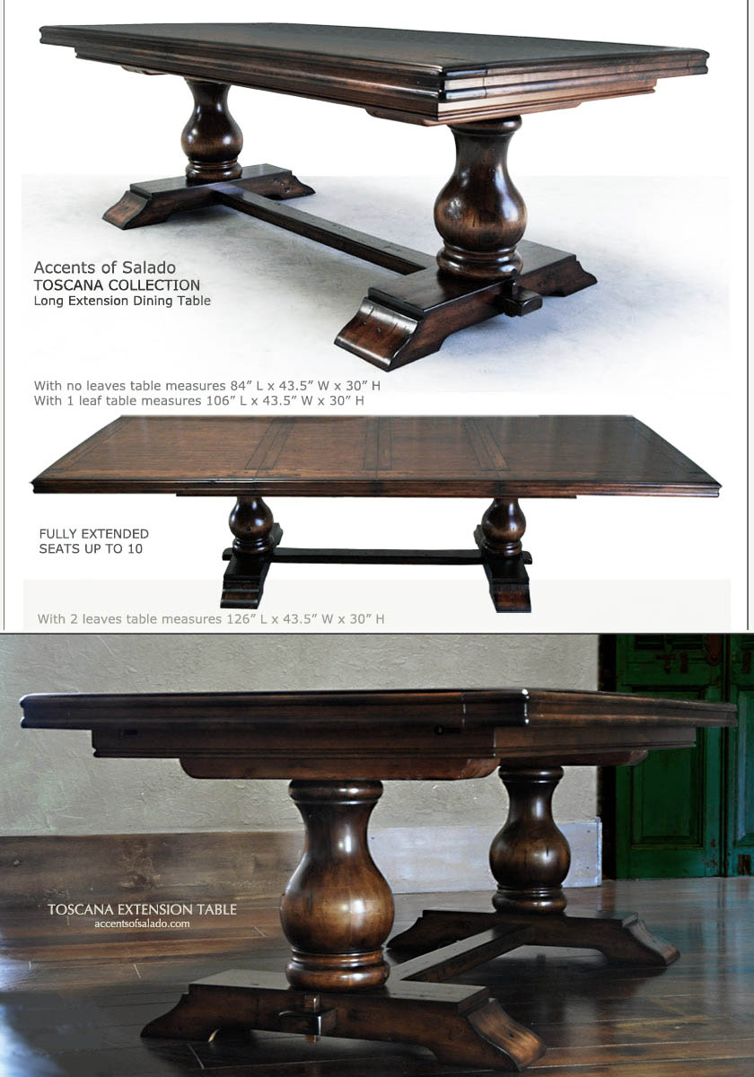 Tuscan Dining Room Tables Large Round Dining Table For Old With Regard To 2018 Tuscan Chestnut Toscana Dining Tables (View 21 of 25)