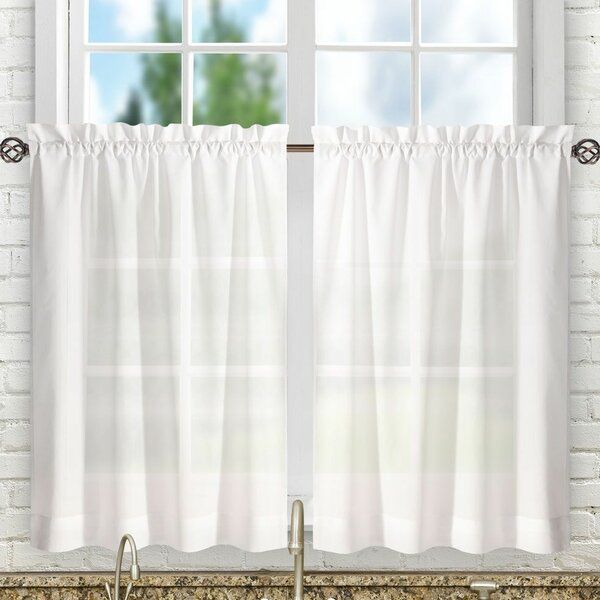 Two Tiered Curtains   Wayfair With Regard To Traditional Two Piece Tailored Tier And Swag Window Curtains Sets With Ornate Rooster Print (View 16 of 25)