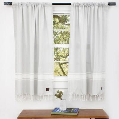 Ugg® Costa Mesa Rod Pocket Window Curtain Panels And Valance Regarding Rod Pocket Cotton Linen Blend Solid Color Flax Kitchen Curtains (View 24 of 25)