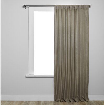 Umbra Kensington Solid Blackout Tab Top Single Curtain Panel Intended For Modern Subtle Texture Solid White Kitchen Curtain Parts With Grommets Tier And Valance Options (View 5 of 25)