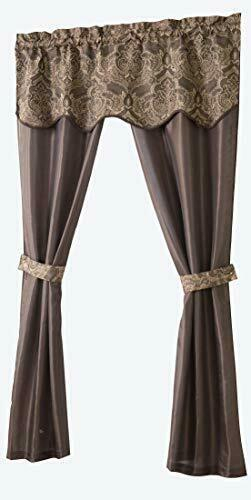 Unique 5 Piece Window Curtain Setgoodgram – Assorted Colors (Chocolate) Pertaining To Chocolate 5 Piece Curtain Tier And Swag Sets (View 3 of 25)