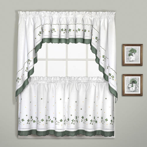 United Curtains Gingham Rod Pocket Light Filtering Curtain Intended For Light Filtering Kitchen Tiers (View 24 of 25)