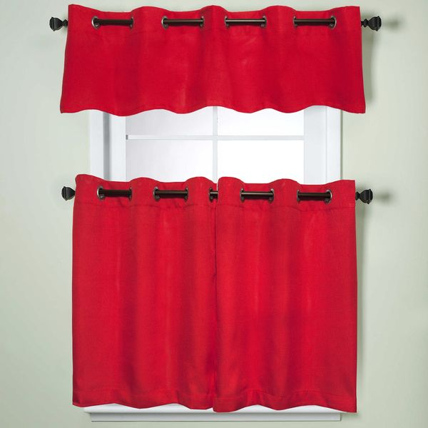 Update Your Kitchen, Living Room, Den With These Modern Inside Bermuda Ruffle Kitchen Curtain Tier Sets (Image 22 of 25)