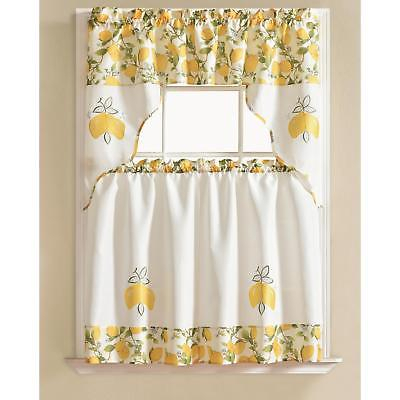 Featured Image of Urban Embroidered Tier And Valance Kitchen Curtain Tier Sets