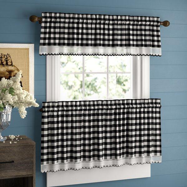 Valances For Kitchen   Wayfair Inside Twill 3 Piece Kitchen Curtain Tier Sets (View 8 of 25)