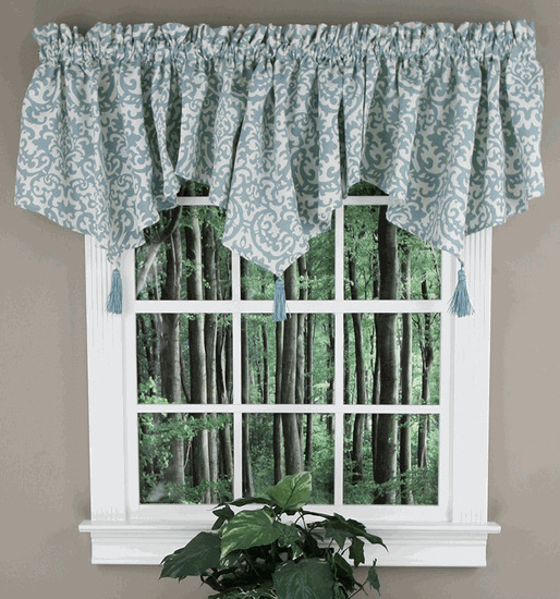 Valances Galore – Proslimelt.live Pertaining To Navy Vertical Ruffled Waterfall Valance And Curtain Tiers (Photo 24 of 25)