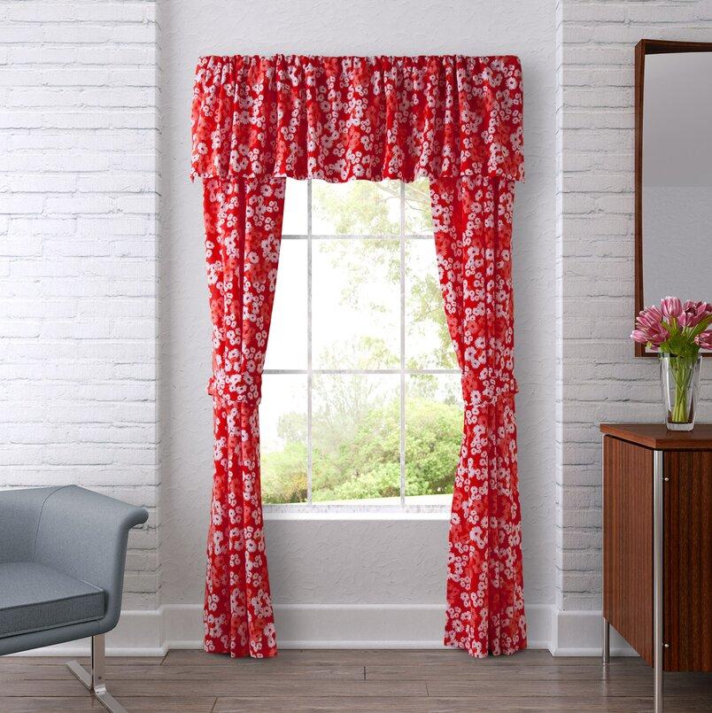 Valances & Kitchen Curtains | Joss & Main Inside Class Blue Cotton Blend Macrame Trimmed Decorative Window Curtains (View 17 of 25)