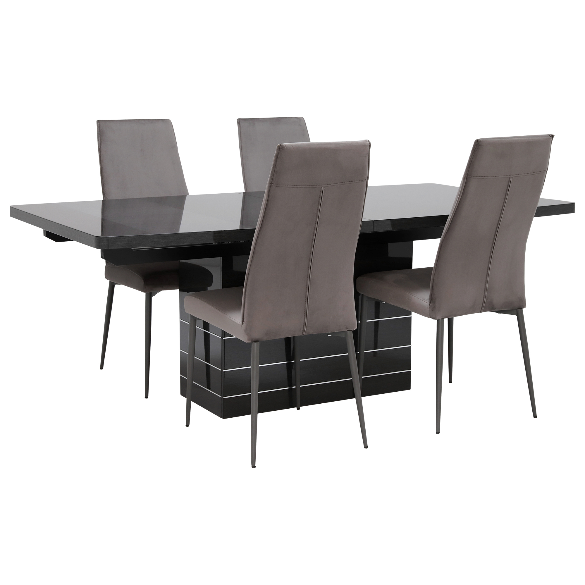 Versilia Extending Dining Table & 4 Chairs, Grey – Barker & Stonehouse Inside Most Current Martino Dining Tables (View 13 of 25)