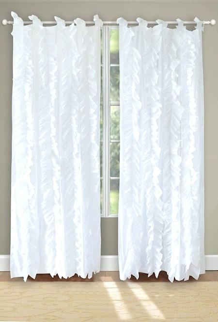 Vertical Ruffle Curtain – Mcnourish For Chic Sheer Voile Vertical Ruffled Window Curtain Tiers (View 11 of 25)