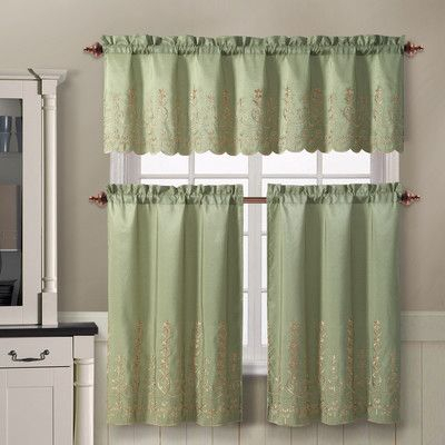 Victoria Classics Aileen Valance And Tier Set & Reviews With Regard To Lemon Drop Tier And Valance Window Curtain Sets (View 17 of 25)