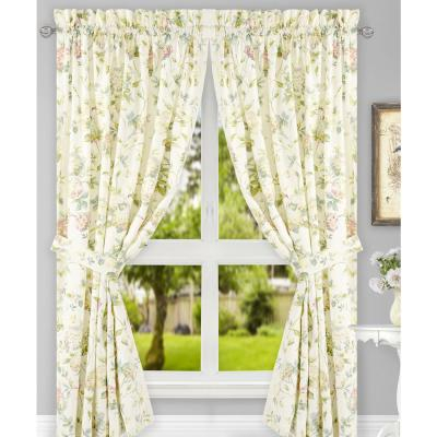 Victoria Park 68 In. W X 24 In. L Toile Black Cottontailored With Touch Of Spring 24 Inch Tier Pairs (Photo 2 of 25)