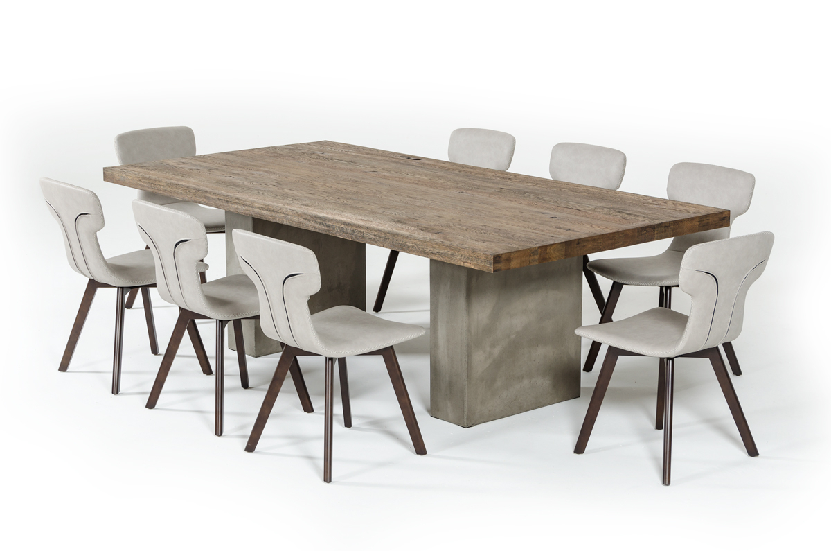 Vig Renzo Oak & Concrete Dining Table Inside Current Kipling Rectangular Dining Tables (Image 24 of 25)