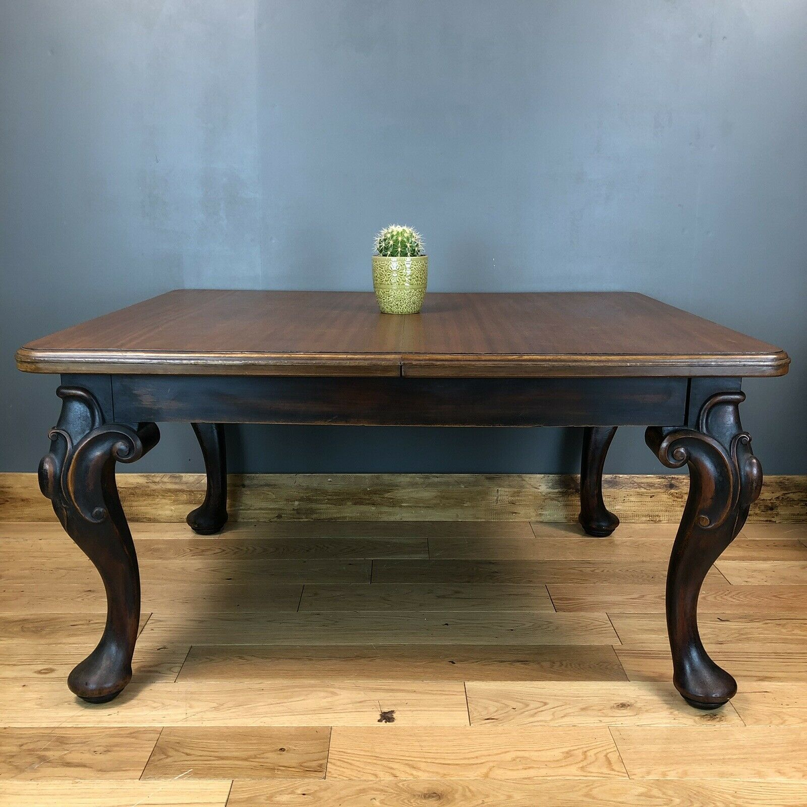 Vintage Antique Mahogany Extending Dining Table Kitchen Rustic Farmhouse In Latest Rustic Mahogany Extending Dining Tables (View 3 of 25)