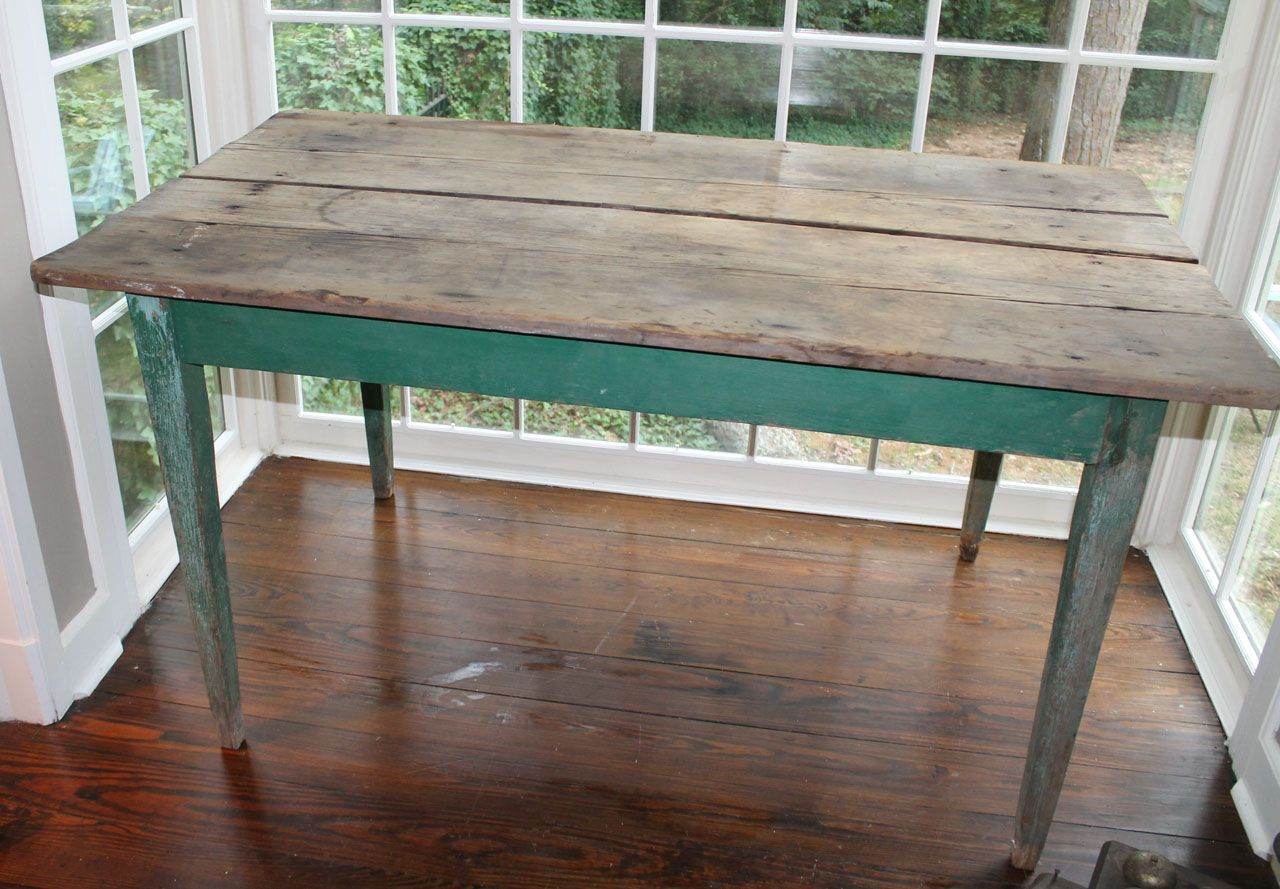 Vintage Side Farm Table ~ Ray | Rustic Farm Table, Diy Throughout 2017 Brussels Reclaimed European Barnwood Dining Tables (Photo 7 of 25)