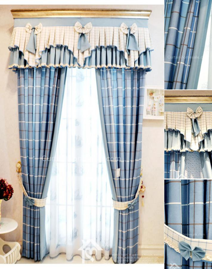 Vintage Style Curtains Brilliant Blue Plaid Lines Striped Intended For Cotton Blend Classic Checkered Decorative Window Curtains (Photo 18 of 25)
