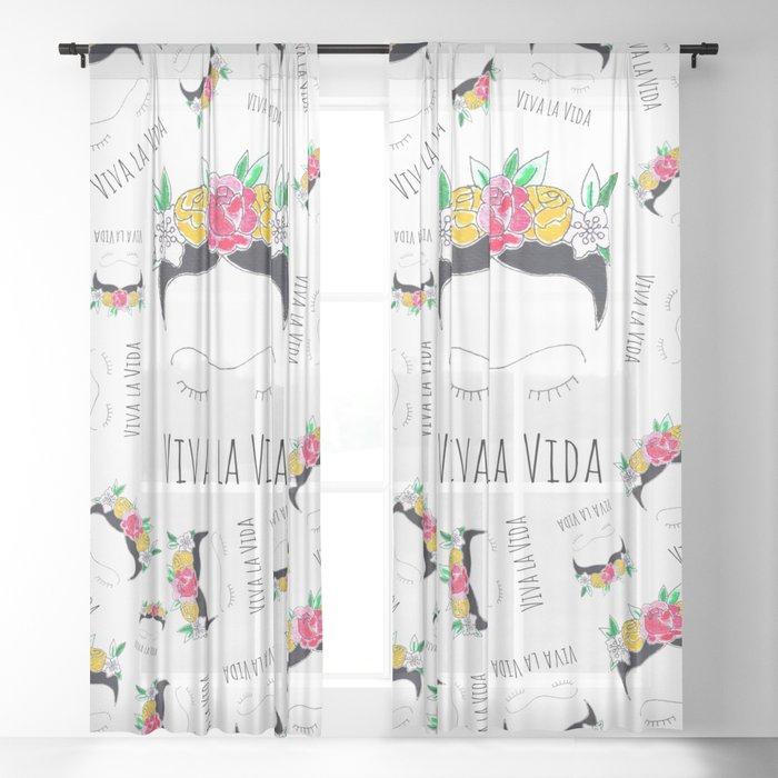 Viva La Vida Sheer Curtainmayrareinart Inside La Vida Window Curtains (Photo 2 of 25)