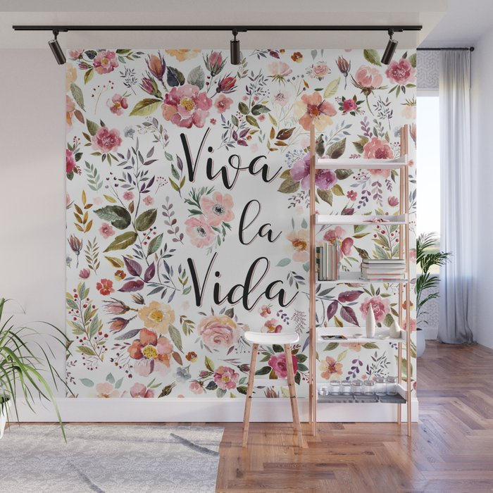 Viva La Vida Wall Muralelisagordon With La Vida Window Curtains (Photo 7 of 25)