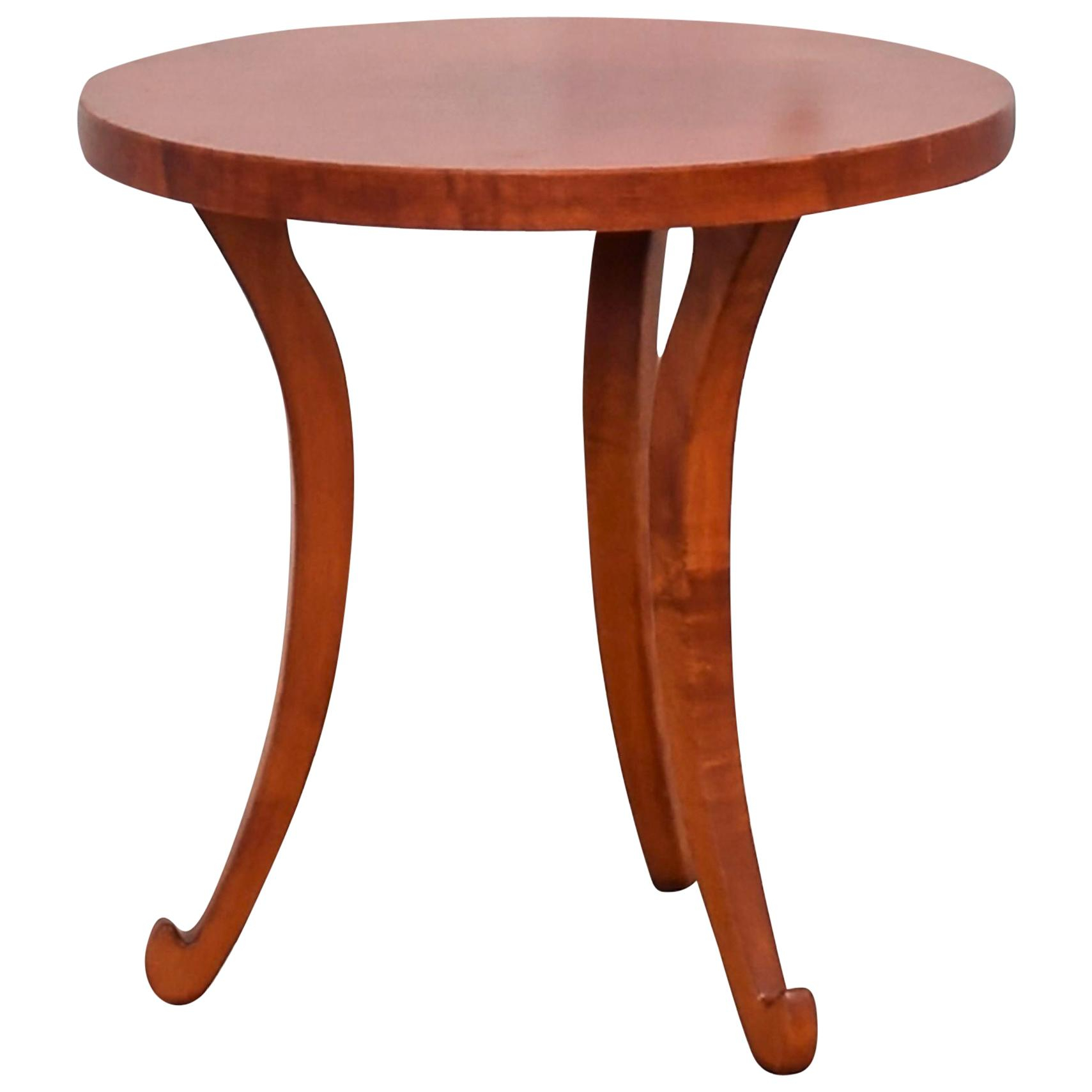 Vladimir Kagan Nesting Mahogany And Ceramic Tile Top Tables Within Recent Warner Round Pedestal Dining Tables (View 19 of 25)