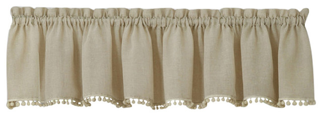 """Wallace Window Curtain Valance 52""""x14"""", Linen With Wallace Window Kitchen Curtain Tiers (View 22 of 25)"""