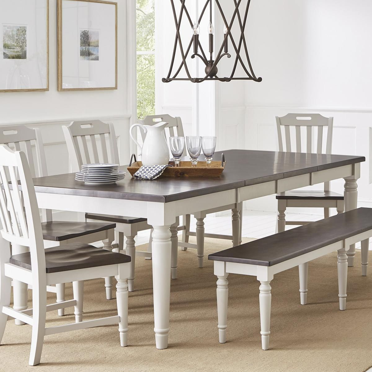 Waltham Orchard Park 6 Piece Dining Set In Dove Gray With Regard To Most Recently Released Ingred Extending Dining Tables (View 7 of 25)