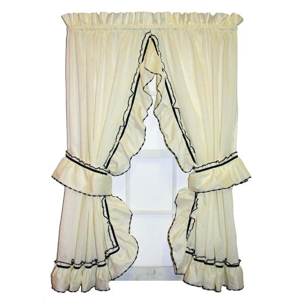 Waterfall Ruffle Curtain – Daivietgroup Pertaining To Navy Vertical Ruffled Waterfall Valance And Curtain Tiers (View 5 of 25)